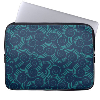 Swirly Ocean Waves Laptop Sleeve
