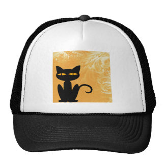 Swirly Orange Black Cat Cap
