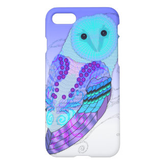 Swirly Owl - Choose Your Color! iPhone 7 Case