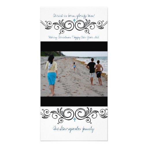 Swirly Photo Card Template