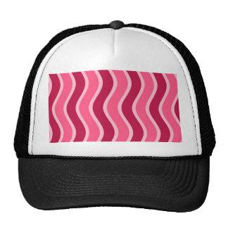 Swirly Pink Striped Cap