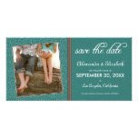 Swirly-Q Green/Brown Save the Date Announcement Photo Greeting Card