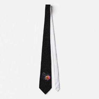 Swirly Rainbow Rose Tie