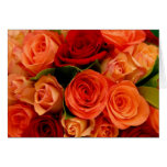 Swirly Roses Bouquet Greeting Cards