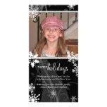 Swirly Snow Holiday Photo Card