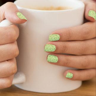 Swirly Spring Green Nail Wraps