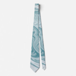 'Swirly Teal Abstract' Tie