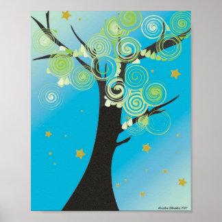 Swirly Tree Print