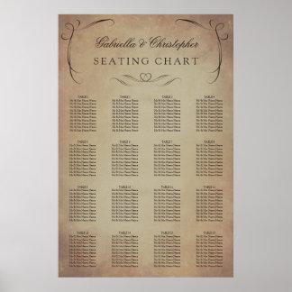 Swirly Vintage | Wedding Seating Chart 16 Table