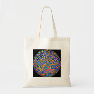 swirly whirly coloured tote shopping bag