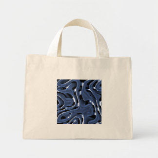 Swiryly Blue Chrome Abstract Art Tote Bag