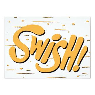 SWISH! 13 CM X 18 CM INVITATION CARD