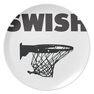 Swish basketball plate