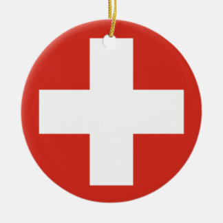 Swiss Air Force Roundel Christmas Ornament