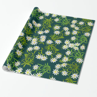 Swiss Alpine Edelweiss Flowers Wrapping Paper