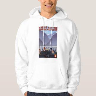 Swiss Alpine Postal Coaches Switzerland Hooded Sweatshirts