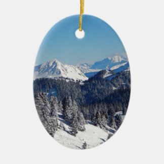 Swiss Alps Ceramic Oval Decoration