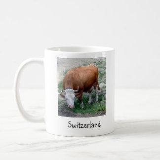 Swiss Alps cow mug