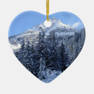 Swiss Alps in Winter Christmas Tree Ornaments