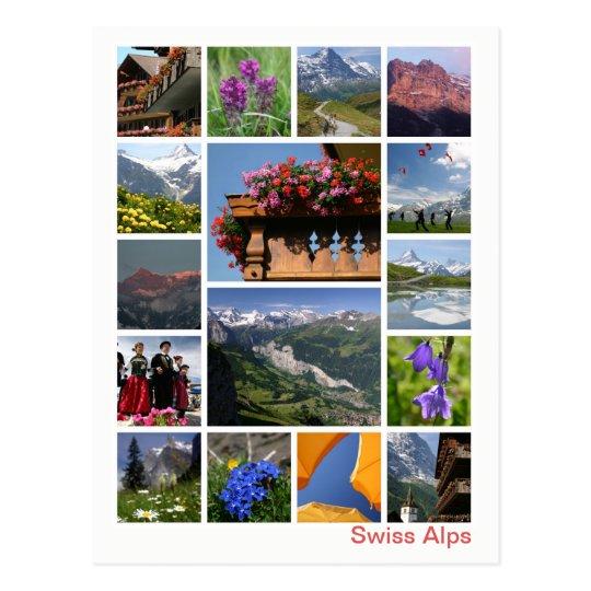 Swiss Alps multi-image 2 Postcard