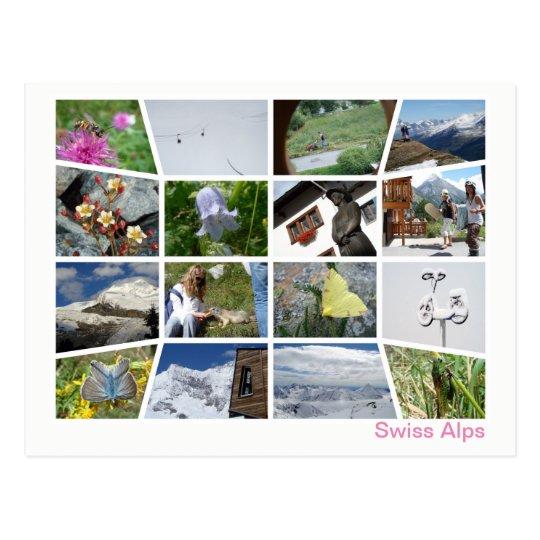 Swiss Alps multi-image 4 Postcard