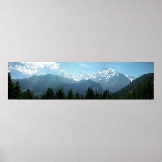 Swiss Alps Panoramic Posters