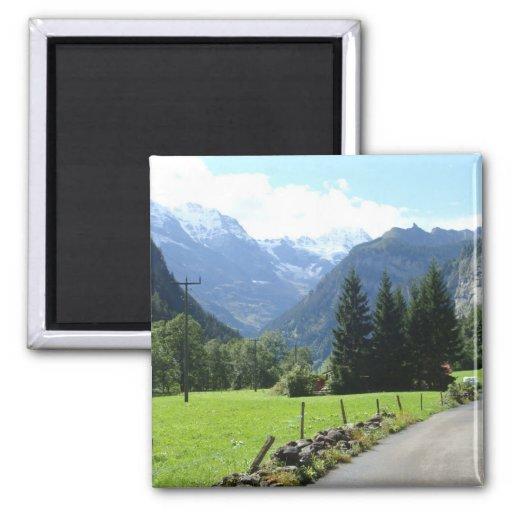 Swiss Alps Refrigerator Magnet