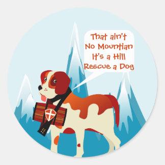 Swiss Alps Saint Bernard Round Sticker