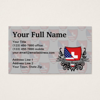 Swiss-American Shield Flag Business Card