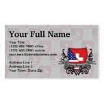 Swiss-American Shield Flag Business Cards