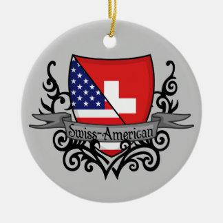 Swiss-American Shield Flag Christmas Ornament