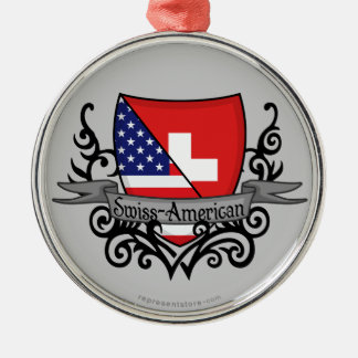 Swiss-American Shield Flag Christmas Ornament