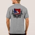 Swiss-American Shield Flag Polo T-shirts