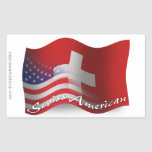 Swiss-American Waving Flag