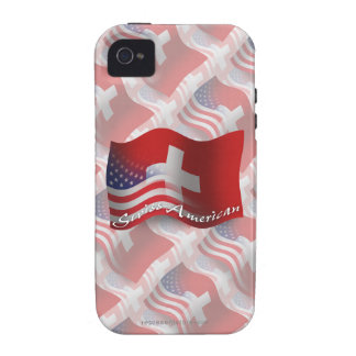 Swiss-American Waving Flag Case For The iPhone 4