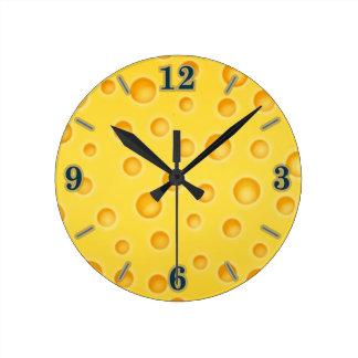 Swiss Cheese Cheezy Texture Pattern Wallclock