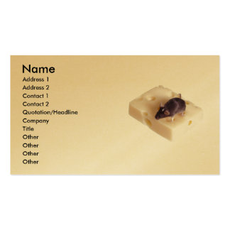 Swiss Cheese Mouse Profile Card Business Card
