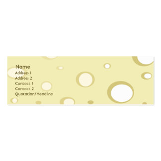 Swiss Cheese - Skinny Pack Of Skinny Business Cards
