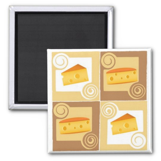 Swiss Cheese Square Magnet