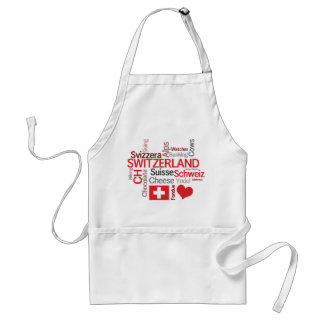 Swiss Chef's Cheese and Fondue I Love Switzerland Standard Apron