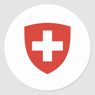 Swiss coat of arms round sticker