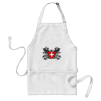 Swiss coats of arms with wing aprons