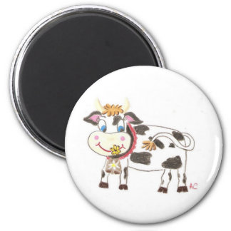 Swiss cow round magnet