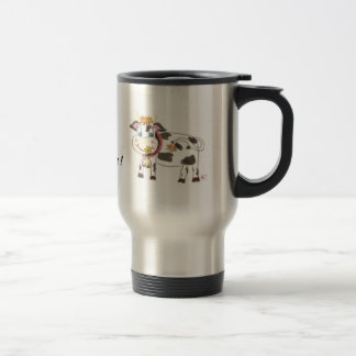 Swiss cow travel coffee mug