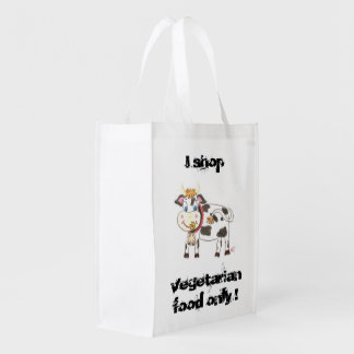 Swiss cow vegetarian reusable bag