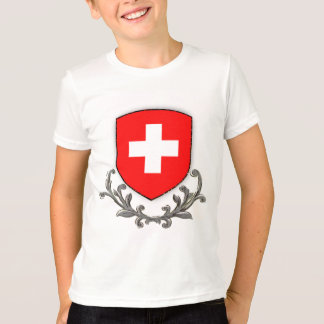 Swiss Crest Kids Ringer T-Shirt