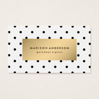 Swiss Dots in Gold   Business Cards