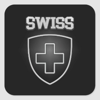 Swiss Emblem Square Sticker