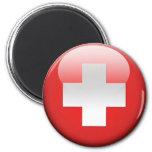 Swiss Flag 2.0 6 Cm Round Magnet