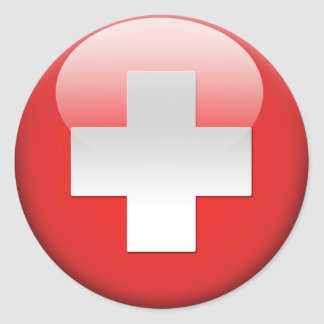 Swiss Flag 2.0 Classic Round Sticker